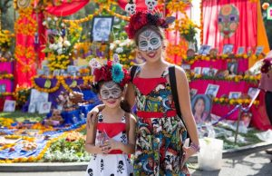 It's a vibrant, all-day Dia de Los Muertos celebration at Hollywood Forever.