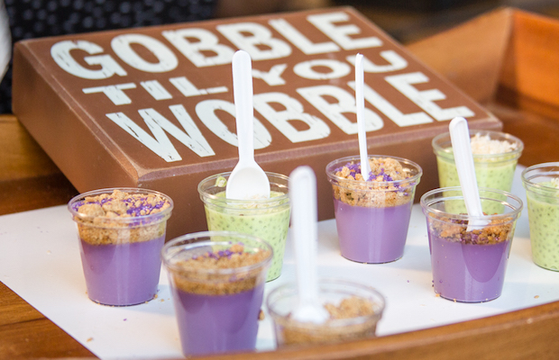 FrankieLucy Bakeshop's purple ube upside-down caramel had angels dancing on our tongues. (David Arellanes)
