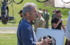 Director Mel Gibson on the set of Hacksaw Ridge (Mark Rogers)