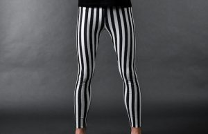 Kapow Meggings's striped Beetlejuice Meggings are perfect for school, hiking or a day at the park.