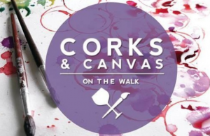 Sip, paint and nibble at Corks & Canvas at Anaheim's GardenWalk.