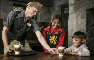 Head to Universal Studios Hollywood for your cup of Hot Butterbeer at the Wizarding World of Harry Potter.