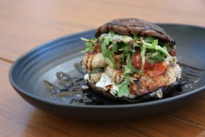 Find the Kinoko Burger at Umami Burger at the Grove.