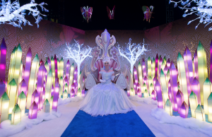 Visit the Alice in Winterland Experience at the Queen Mary's CHILL.
