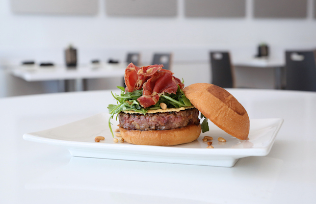 The Trattoria Burger at the Downtown location is one of the exciting new burgers from Umami Burger.