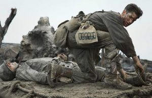 Andrew Garfield as Desmond T. Doss in Hacksaw Ridge (Lionsgate)