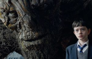 The Monster (Liam Neeson) and Conor (Lewis MacDougall) in  A Monster Calls (Focus Features)