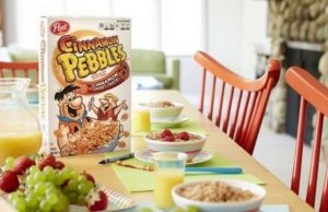 Post is adding Cinnamon Pebbles to your breakfast lineup.