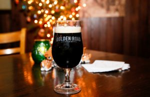 Golden Road's Bourbon Barrel-Aged Back Home Gingerbread Stout is a delicious liquid gingerbread cookie. (Ryan Miller for Craft Media Solutions)
