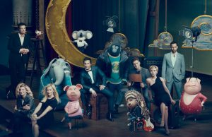 The all-star cast of Sing with their animated counterparts