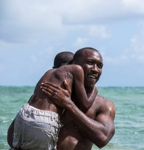 Alex Hibbert and Mahershala Ali in Moonlight (David Bornfriend)