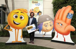 T.J. Miller, stars of The Emoji Movie at Sony Pictures Animation's slate presentation Jan. 18.  (Eric Charbonneau/CTMG)