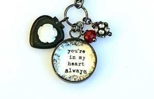 "Part of the ""you're in my heart always"" necklace by Beth Quinn Designs."
