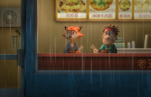 Jorge Garcia voices Germur, right, in Rock Dog. (Courtesy of Lionsgate)