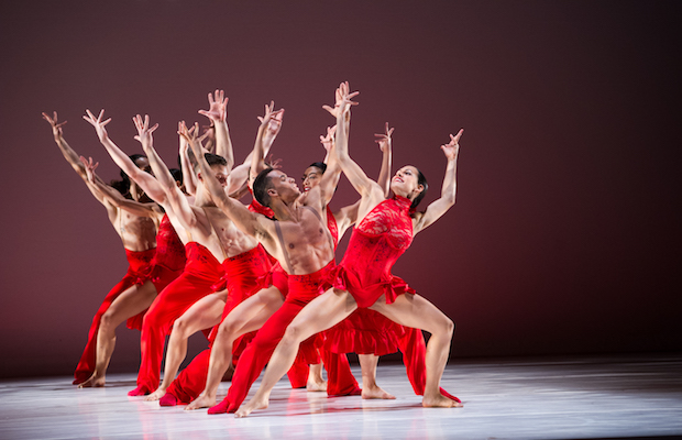 "A scene from ""Danzón,"" part of Ballet Hispanico's performance at Luckman Fine Arts Complex"