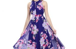 Ever Pretty's Alisa Pan Sleeveless Floral Print Tea Length Party Dress is so romantic.