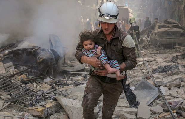 """The White Helmets"" centers around first responders in Syria tasked with rescuing bombing victims from the rubble."