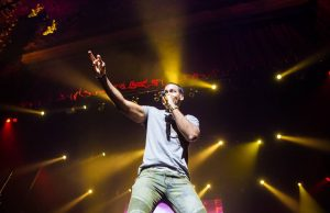 Romeo Santos during his pop-up show at The Theatre at Ace Hotel in downtown Los Angeles. (Courtesy Photo)
