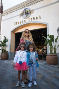 Mariah Carey and children Moroccan and Monroe visit Universal Studios Hollywood on Tuesday, March 7, 2017