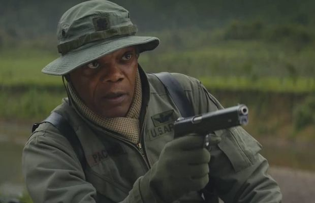 Samuel L. Jackson as Preston Packard in Kong: Skull Island