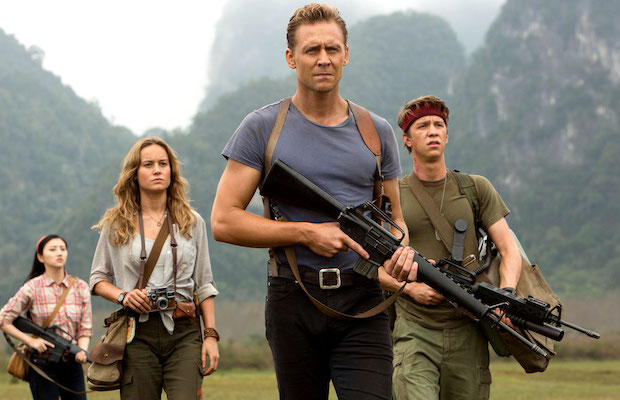 Tian King, Brie Larson, Tom Hiddleston and Thomas Mann in Kong: Skull Island