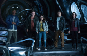RJ Cyler, Dacre Montgomery, Becky G., Ludi Lin and Naomi Scott in Power Rangers (Kimberly French)