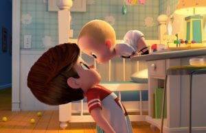 Tim (Miles Bakshi) and Boss Baby (Alec Baldwin)    in The Boss Baby (DreamWorks Animation)