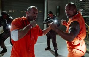 Jason Statham as Deckard and Dwayne Johnson as Hobbs in The Fate of the Furious