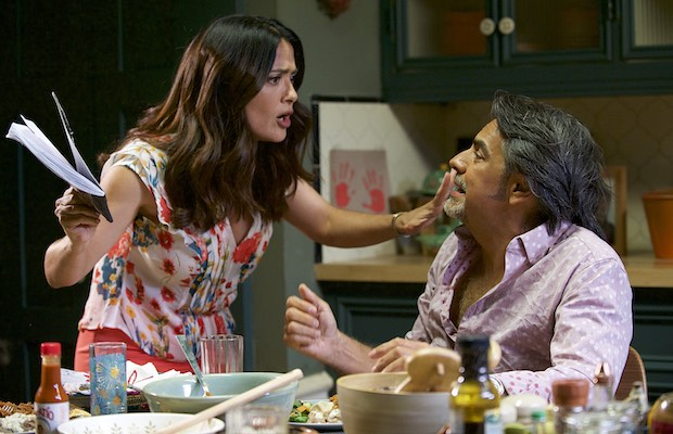 Salma Hayek and Eugenio Derbez in How to Be a Latin Lover (Claudette Barius/Pantelion Films)