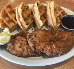 Fried chicken & waffles at 33 Taps Silver Lake (Courtesy Photo)