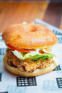 Fried chicken BLT