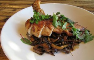 Oven-roasted Jidori chicken breast at Napa Valley Grille (Courtesy Photo)