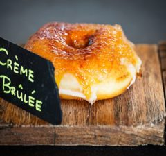 Creme brulee doughnut at Astro Doughnuts & Fried Chicken (Scott Suchman for Astro Doughnuts & Fried Chicken)