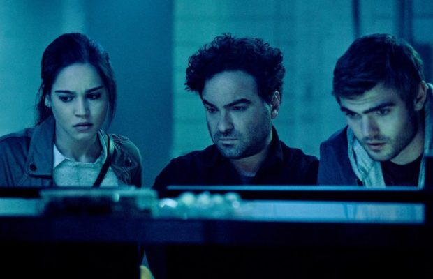 (l-r) Matilda Lutz, Johnny Galecki, and Alex Roe in Rings (Paramount Pictures)