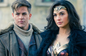 Chris Pine and Gal Gadot in Wonder Woman.