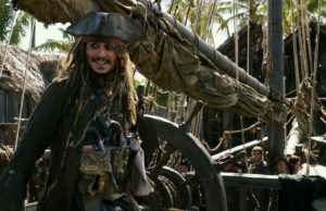 Johnny Depp as Jack Sparrow in Pirates of the Caribbean: Dead Men Tell No Tales (Walt Disney Studios)