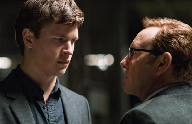 Baby (Ansel Elgort) and Doc (Kevin Spacey) in Baby Driver