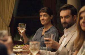 Salma Hayek and Jay Duplass in Beatriz at Dinner (Lacey Terrell)