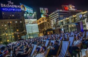 Sit back and enjoy a recent release or old favorite at Rooftop Cinema Club.