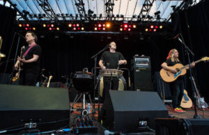 """Not a single audience member was sitting when Violent Femmes performed """"Blister in the Sun."""" (Taylor Wong/LOL-LA)"""
