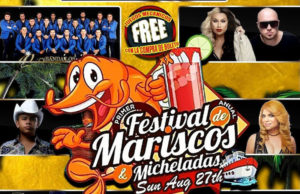 The Primer Festival Anual de Mariscos & Micheladas takes place August 27, 2017 at Pico Rivera Sports Arena.