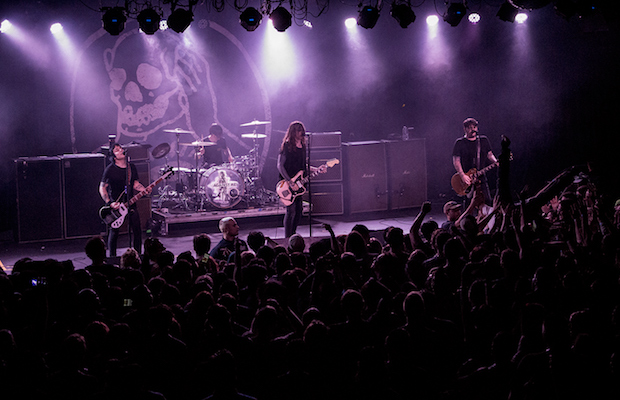 Against Me! performing at the Glass House on Sept. 15 (Evan Solano/LOL-LA)