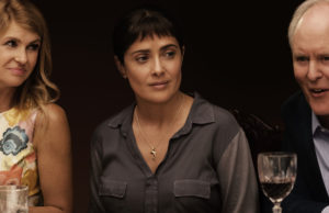 Connie Britton, Salma Hayek and John Lithgow in Beatriz at Dinner