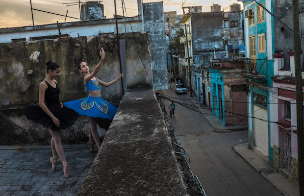 Leysis Quesada Vera, Avril and Thalia on the rooftop, Havana, 2017 (Annenberg Space for Photography)