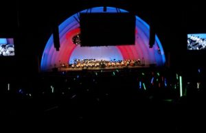 The Hollywood Bowl waved lightsabers to John Williams' conducting. (Evan Solano/LOL-LA)