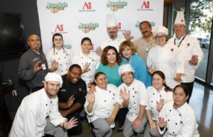 Angélica María and Angélica Vale launch Vive La Tradición with students from he International Culinary Schools at the Art Institutes.