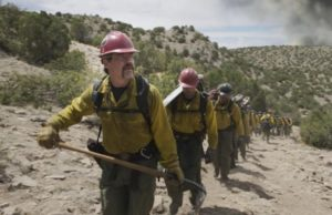 """Supe"" Eric Marsh (Josh Brolin"" with his crew in Only the Brave (Sony Pictures)"