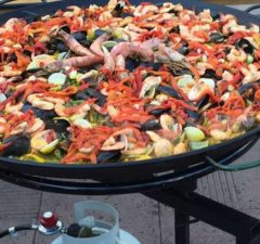 Several different types of the Spanish dish were served at the Paella Wine & Beer Festival.