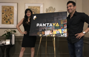 Maite Perroni and Omar Chaparro at the Pantaya launch
