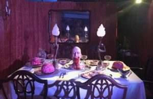 Glimpse the demented Chef's creations in the new Feast maze at Queen Mary's Dark Harbor. (Sabina Ibarra/LOL-LA)